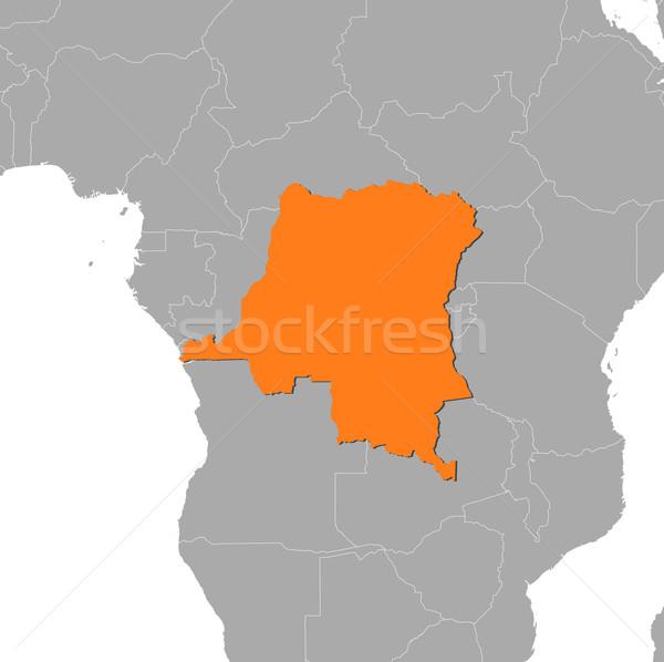 Térkép demokratikus köztársaság Kongó néhány absztrakt Stock fotó © Schwabenblitz