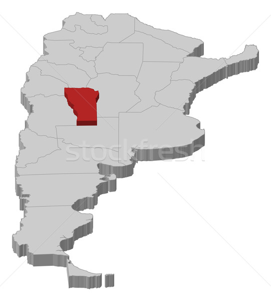 Map of Argentina, San Luis highlighted Stock photo © Schwabenblitz