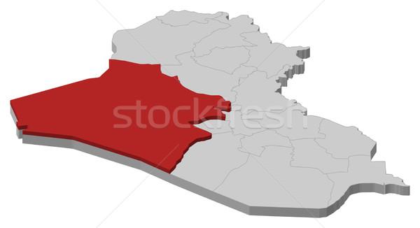 地図 イラク 政治的 いくつかの 抽象的な 背景 ストックフォト © Schwabenblitz