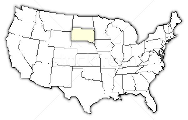 Harita Amerika Birleşik Devletleri Güney Dakota siyasi birkaç soyut Stok fotoğraf © Schwabenblitz