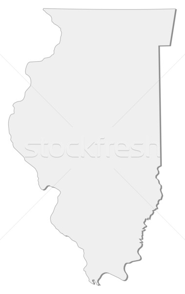 Map of Illinois (United States) Stock photo © Schwabenblitz