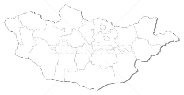 地図 モンゴル国 黒 行 抽象的な 地球 ストックフォト © Schwabenblitz