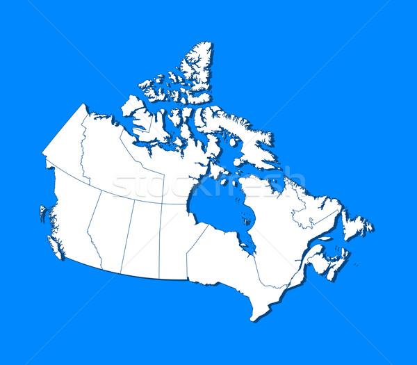 карта Канада аннотация Мир синий связи Сток-фото © Schwabenblitz