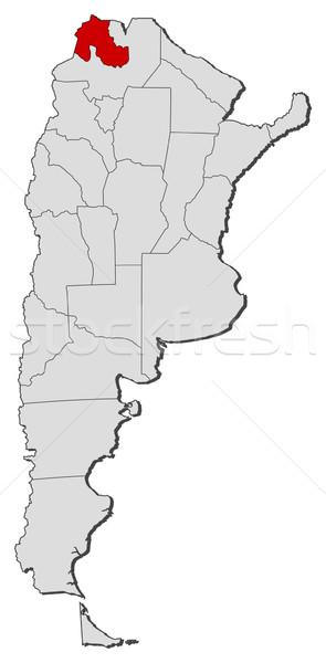 Carte Argentine politique plusieurs monde résumé Photo stock © Schwabenblitz