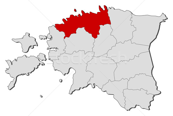Kaart Estland politiek verscheidene wereldbol abstract Stockfoto © Schwabenblitz