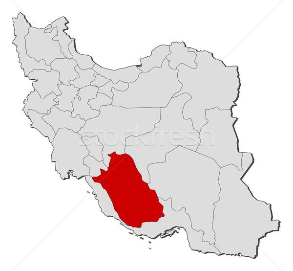 Térkép Irán politikai néhány absztrakt Föld Stock fotó © Schwabenblitz