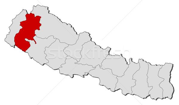 карта Непал политический несколько мира аннотация Сток-фото © Schwabenblitz