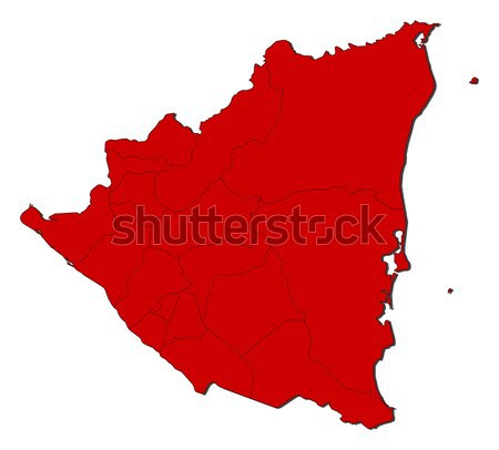 Mapa Iraque político vários abstrato mundo Foto stock © Schwabenblitz