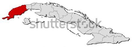 Map of Cuba, Guant Stock photo © Schwabenblitz