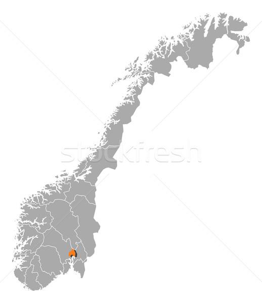 地図 ノルウェー オスロ 政治的 いくつかの 抽象的な ストックフォト © Schwabenblitz