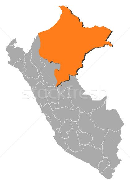 Map of Peru, Loreto highlighted Stock photo © Schwabenblitz