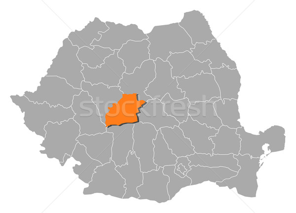 Map of Romania, Sibiu highlighted Stock photo © Schwabenblitz