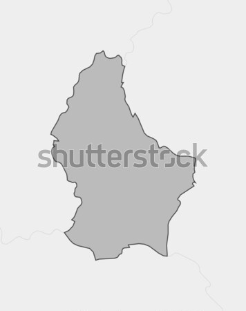 Map of Luxembourg Stock photo © Schwabenblitz