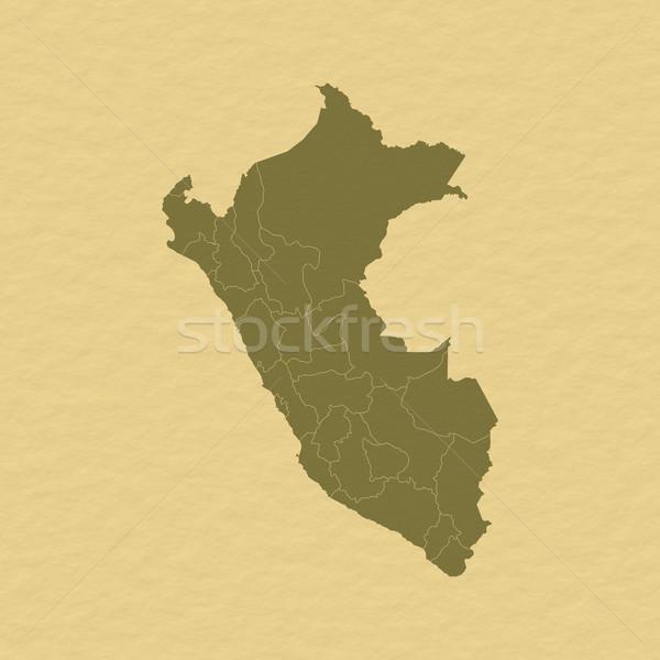 Map of Peru Stock photo © Schwabenblitz