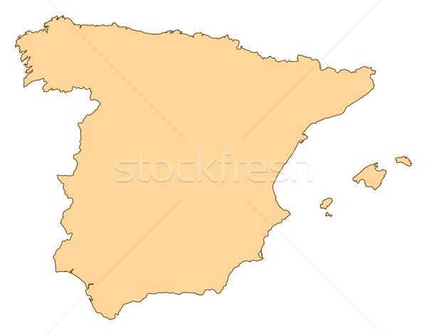 Mapa Espanha vários abstrato mundo fundo Foto stock © Schwabenblitz
