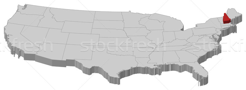 Map of the United States, New Hampshire highlighted Stock photo © Schwabenblitz