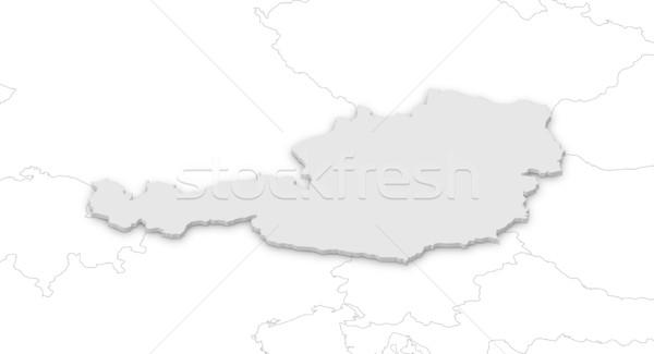 Mapa Áustria político vários abstrato mundo Foto stock © Schwabenblitz