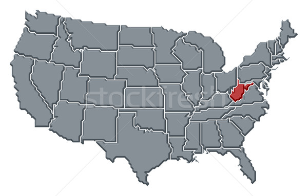 Térkép Egyesült Államok Nyugat-Virginia politikai néhány absztrakt Stock fotó © Schwabenblitz