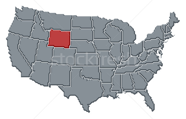 Map of the United States, Wyoming highlighted Stock photo © Schwabenblitz