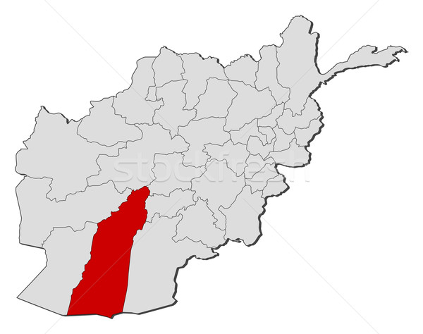 Karte Afghanistan politischen mehrere Welt abstrakten Stock foto © Schwabenblitz