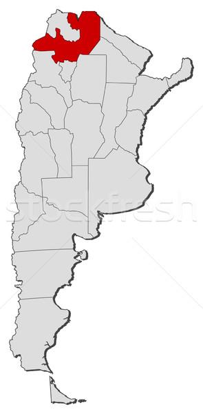 Kaart Argentinië politiek verscheidene wereldbol abstract Stockfoto © Schwabenblitz