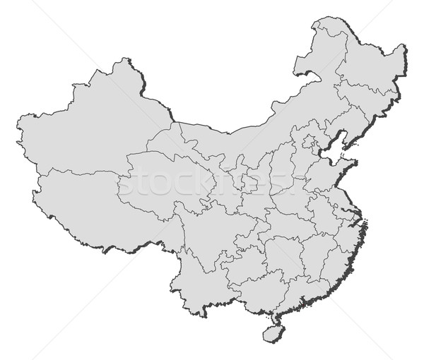 Map of China, Macau highlighted Stock photo © Schwabenblitz