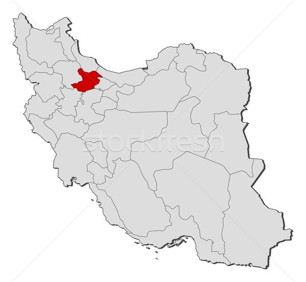 Harita İran siyasi birkaç soyut toprak Stok fotoğraf © Schwabenblitz