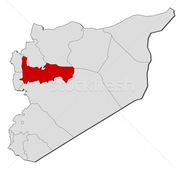 地図 シリア 政治的 いくつかの 抽象的な 地球 ストックフォト © Schwabenblitz