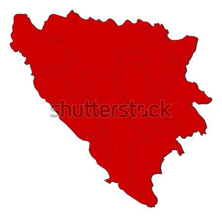 Harita Bosna Hersek siyasi birkaç soyut dünya Stok fotoğraf © Schwabenblitz