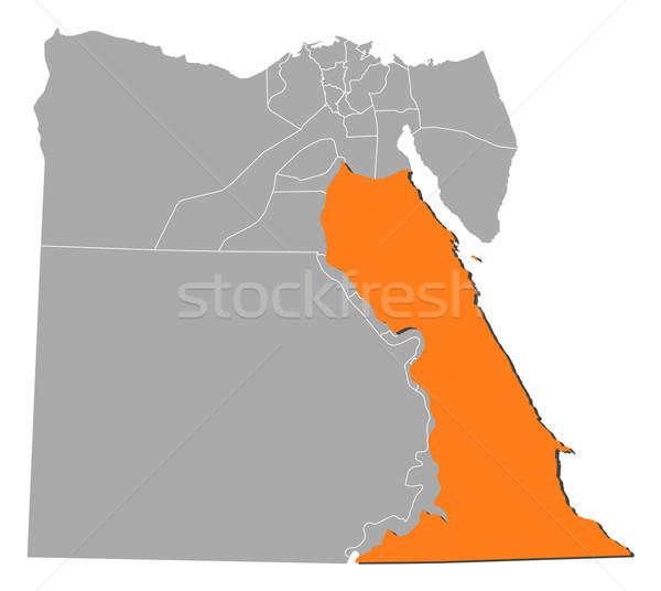 Térkép Egyiptom Vörös-tenger politikai néhány absztrakt Stock fotó © Schwabenblitz