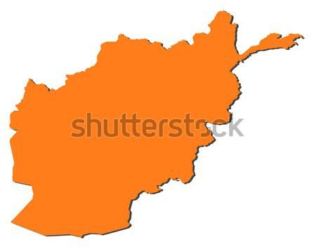 Mapa Afeganistão político vários abstrato mundo Foto stock © Schwabenblitz