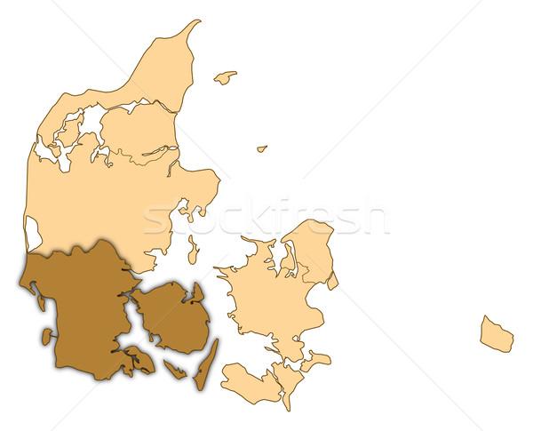 Térkép Dánia déli absztrakt háttér kommunikáció Stock fotó © Schwabenblitz