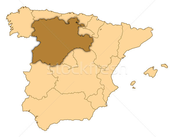 Map of Spain, Castile and Le Stock photo © Schwabenblitz