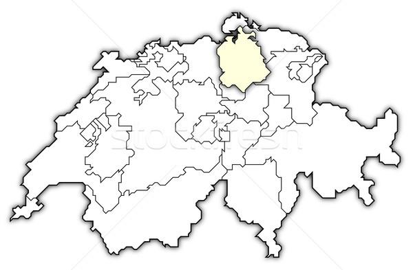 Map of Swizerland, Zurich highlighted Stock photo © Schwabenblitz