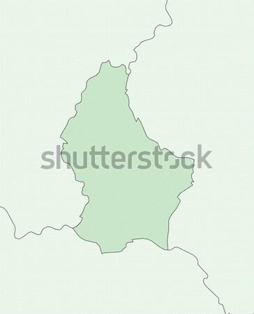 Stockfoto: Kaart · Luxemburg · politiek · verscheidene · abstract · aarde