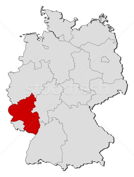 Сток-фото: карта · Германия · политический · несколько · мира · аннотация