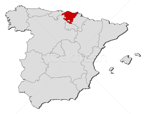 Map of Spain, Basque Country highlighted Stock photo © Schwabenblitz