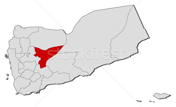 Map of Yemen, Ma'rib highlighted Stock photo © Schwabenblitz