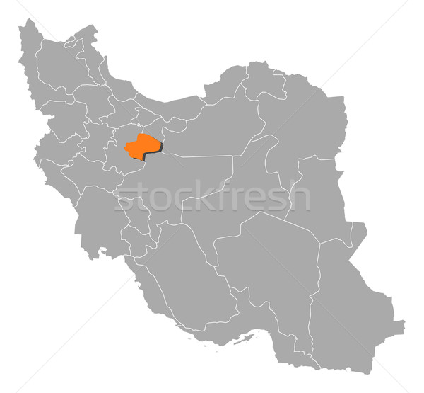 Map of Iran, Qom highlighted Stock photo © Schwabenblitz
