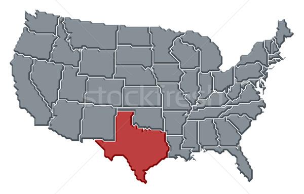 地図 米国 テキサス州 政治的 いくつかの 抽象的な ストックフォト © Schwabenblitz