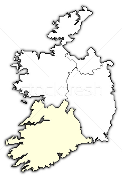 Map of Ireland, Munster highlighted Stock photo © Schwabenblitz