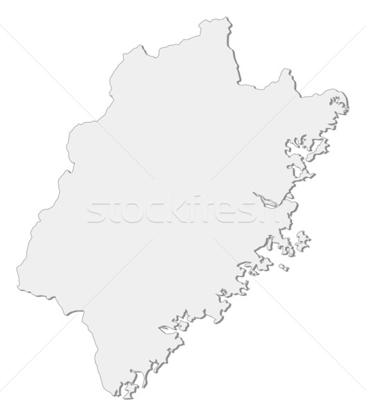 Map of Fujian (China) Stock photo © Schwabenblitz