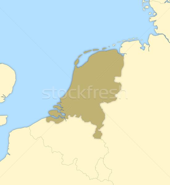 Stockfoto: Kaart · Nederland · politiek · verscheidene · abstract · aarde