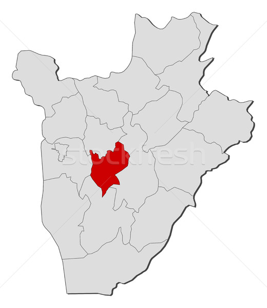Map - Burundi, Mwaro Stock photo © Schwabenblitz
