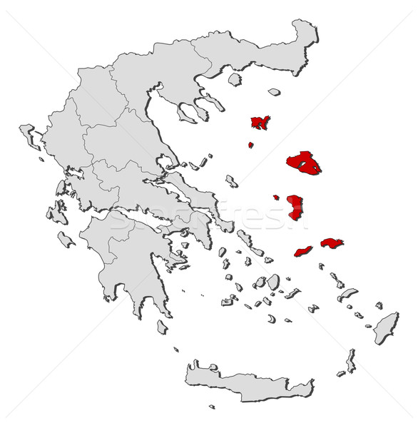 Map of Greece, North Aegean highlighted Stock photo © Schwabenblitz