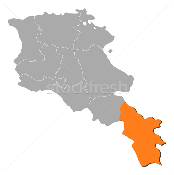 Foto stock: Mapa · Armênia · político · vários · abstrato · fundo