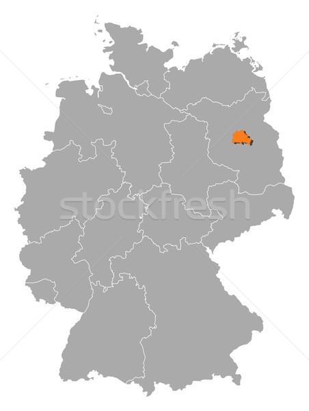Harita Almanya Berlin siyasi birkaç soyut Stok fotoğraf © Schwabenblitz