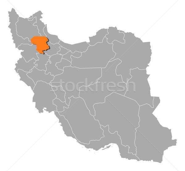 地図 イラン 政治的 いくつかの 抽象的な 背景 ストックフォト © Schwabenblitz