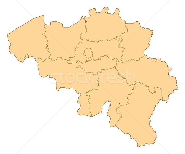 Map of Belgium Stock photo © Schwabenblitz