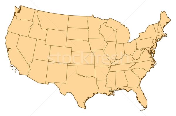 Map of United States, Washington, D.C. highlighted Stock photo © Schwabenblitz